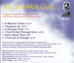 The Scanner Game Musici back tray
